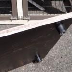 betonplex vlonder voor konijnenhok