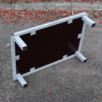 Vlonder met stalen frame 75x50 cm