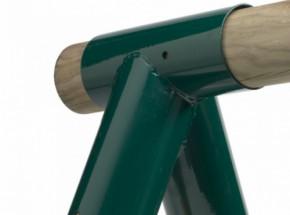 Hoekverbinding schuin voor ronde palen