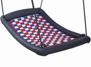 Multikids schommel mat Medium zilver-rood-blauw