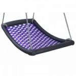 Multikids schommel mat Large zilver-violet