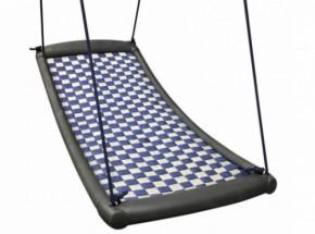 Multi schommel mat Extra Large zilver-blauw
