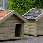 Hondenhok Reno van geïmpregneerd hout, leverbaar met verschillende dakpannen