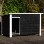 Hondenhok Loebas zwart/wit 195x127x122 cm
