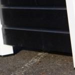 Geimpregneerd hondenhok Loebas zwart/wit 195x127x122 cm