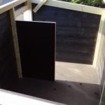 Hondenhok betonplex
