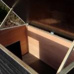 Hondenhok geisoleerd met vloerverwarming 195x127x122 cm
