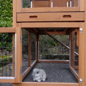 Onderren konijnenhok Maurice