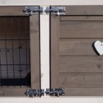 Dubbele deursluiting van Konijnenhok Regular Medium White