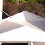 Konijnenhok Regular Medium White met bergruimte onder het dak