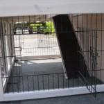 deurtjes in onderren konijnenhok