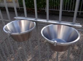 Voerbak dubbel voor kennel 2x3 liter
