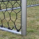 grofmazig zwart net voetbaldoel