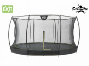 Trampoline EXIT Silhouette Ground met Safetynet 366cm 12ft