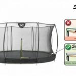 ingraaf  Trampoline EXIT Silhouette met veiligheidsnet 427cm 14ft