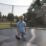 Trampoline EXIT Silhouette Ground met Safetynet