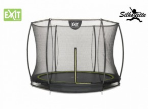 Trampoline EXIT Silhouette Ground met Safetynet 244cm 8ft