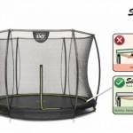 Trampoline EXIT Silhouette ingraaf met Safetynet 305cm 10ft