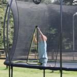 trampoline veiligheidsnet met ritssluiting