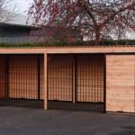 Kennel van 12 m2 met aluminium dak.