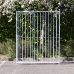 Kennelpaneel Met deur 150x184cm