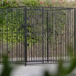 Zwart gecoate hondenkennel FLINQ 1.5x2m