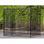 Hondenkennel FLINQ zwarte kennelpanelen 1.5x2m