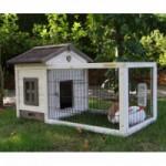 Goedkoop konijnenhok Pretty Home met ren en anti-knaagstrips