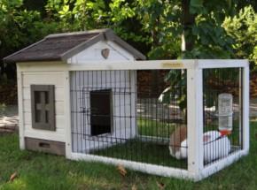 Konijnenhok Caviahok Pretty Home Anti Knaag - white - met lade