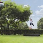 Berg ingraaf trampoline rechthoek