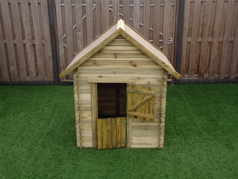 Houten speelhuisje voor in de tuin prestige garden lois for Hout voor traptreden