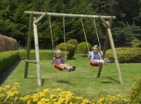 Dubbele, houten schommel Prestige Garden Easy Swing