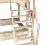 Houten speelhuis Prestige Garden Birdy Luxe - Hoog houten speelhuis met trap