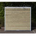 Kennelpaneel Met hout 200x184cm