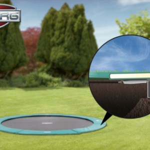 Trampoline BERG Champion 380 Flatground - trampoline gelijk met maaiveld