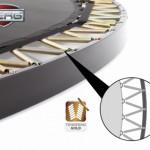 BERG Flatground Elite trampoline frame en veren