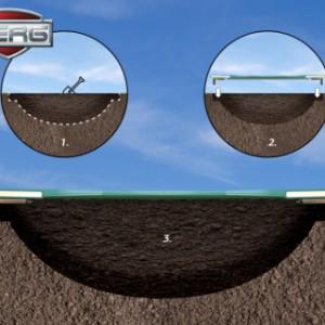 Trampoline BERG Champion 380 Flatground ingraver - te graven kuil voor trampoline