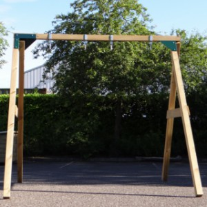 Schommel Dubbel Succes, een stevige houten schommel voor 2 personen