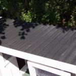 Konijnenhok met kunststof dak