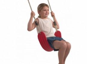 Wraparound flexibel schommelzitje Rood - met PH-touw
