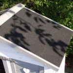 Konijnenhok Excellent Small white-grey met dakleer dak