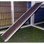 Loopplank voor konijnenhok - kippenhok   75x16cm