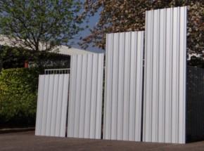 Dakplaat Staal aluzink. 170, 220, 270, 320 cm lang.