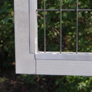 De anti-knaagstrips van Konijnenhok Regular Small white-grey