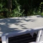 Konijnenhok dak met dakleer