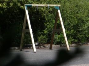 Houten schommel in kleine tuin? De Enkel Succes Laag 180x240x212cm