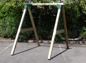 Schommel geïmpregneerd hout, palen 88x88mm en schommelplanken 18x145mm