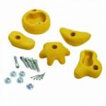 Gele klimstenen voor eigenbouw van een speeltoestel