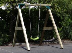 Schommel Compleet Enkel Succes Laag, geïmpregneerd hout 180x240x212cm
