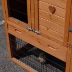 Kunststof schuiflade konijnenhok